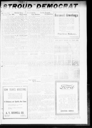 Primary view of object titled 'The Stroud Democrat (Stroud, Okla.), Vol. 9, No. 14, Ed. 1 Friday, December 27, 1918'.
