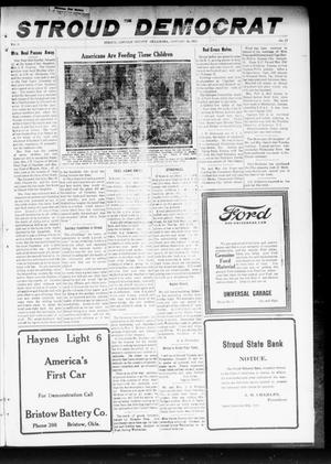 Primary view of object titled 'The Stroud Democrat (Stroud, Okla.), Vol. 9, No. 17, Ed. 1 Friday, January 24, 1919'.