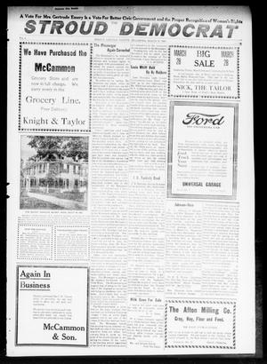 Primary view of object titled 'The Stroud Democrat (Stroud, Okla.), Vol. 9, No. 26, Ed. 1 Friday, March 28, 1919'.
