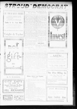 Primary view of object titled 'The Stroud Democrat (Stroud, Okla.), Vol. 9, No. 28, Ed. 1 Friday, April 18, 1919'.