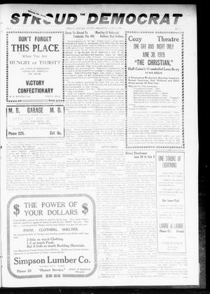 Primary view of object titled 'The Stroud Democrat (Stroud, Okla.), Vol. 9, No. 38, Ed. 1 Friday, June 27, 1919'.