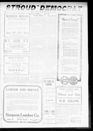 Primary view of object titled 'The Stroud Democrat (Stroud, Okla.), Vol. 9, No. 40, Ed. 1 Friday, July 11, 1919'.