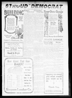 Primary view of object titled 'The Stroud Democrat (Stroud, Okla.), Vol. 9, No. 43, Ed. 1 Friday, August 1, 1919'.