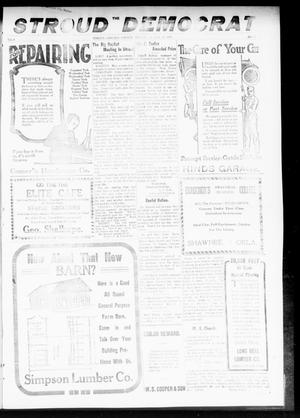Primary view of object titled 'The Stroud Democrat (Stroud, Okla.), Vol. 9, No. 46, Ed. 1 Friday, August 22, 1919'.
