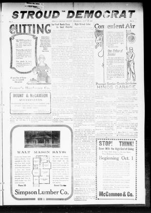 Primary view of object titled 'The Stroud Democrat (Stroud, Okla.), Vol. 9, No. 51, Ed. 1 Friday, September 26, 1919'.