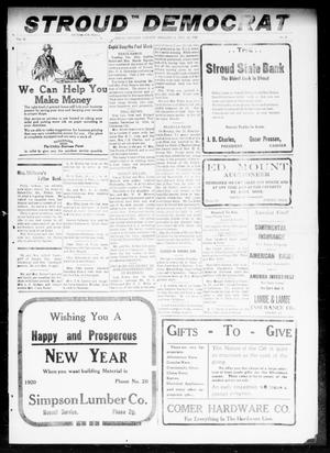 Primary view of object titled 'The Stroud Democrat (Stroud, Okla.), Vol. 10, No. 9, Ed. 1 Friday, December 26, 1919'.