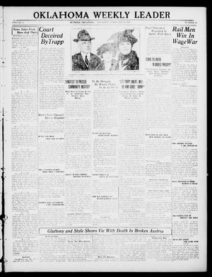 Primary view of object titled 'Oklahoma Weekly Leader (Guthrie, Okla.), Vol. 30, No. 48, Ed. 1 Thursday, February 10, 1921'.