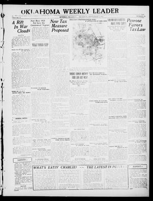 Primary view of object titled 'Oklahoma Weekly Leader (Guthrie, Okla.), Vol. 31, No. 26, Ed. 1 Thursday, September 8, 1921'.