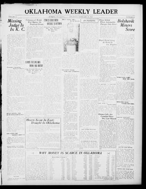 Primary view of object titled 'Oklahoma Weekly Leader (Guthrie, Okla.), Vol. 31, No. 52, Ed. 1 Thursday, February 16, 1922'.