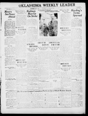 Primary view of object titled 'Oklahoma Weekly Leader (Guthrie, Okla.), Vol. 31, No. 24, Ed. 1 Thursday, August 10, 1922'.
