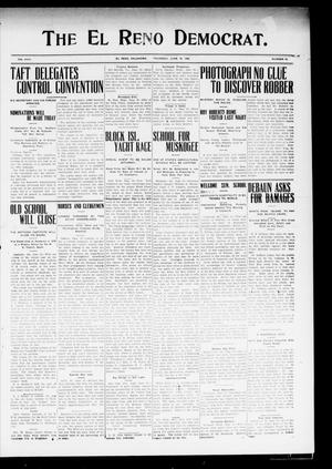Primary view of object titled 'The El Reno Democrat. (El Reno, Okla.), Vol. 19, No. 15, Ed. 1 Thursday, June 18, 1908'.