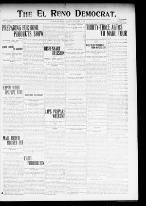 Primary view of object titled 'The El Reno Democrat. (El Reno, Okla.), Vol. 19, No. 27, Ed. 1 Thursday, September 17, 1908'.