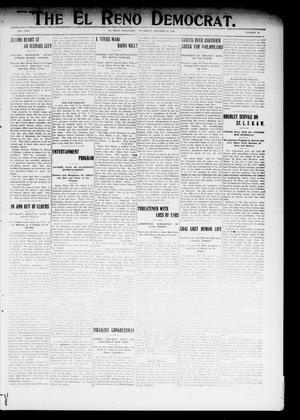 Primary view of object titled 'The El Reno Democrat. (El Reno, Okla.), Vol. 19, No. 34, Ed. 1 Thursday, October 29, 1908'.