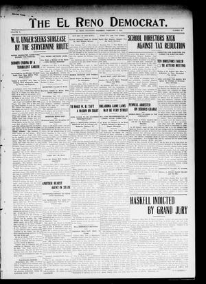 Primary view of object titled 'The El Reno Democrat. (El Reno, Okla.), Vol. 19, No. 48, Ed. 1 Thursday, February 4, 1909'.