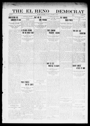 Primary view of object titled 'The El Reno Democrat (El Reno, Okla.), Vol. 21, No. 41, Ed. 1 Thursday, December 16, 1909'.