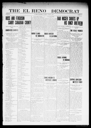 Primary view of The El Reno Democrat (El Reno, Okla.), Vol. 22, No. 22, Ed. 1 Thursday, August 4, 1910
