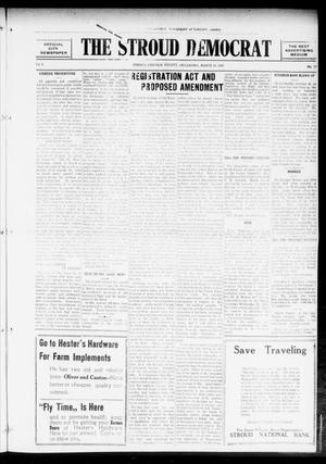 Primary view of object titled 'The Stroud Democrat (Stroud, Okla.), Vol. 6, No. 27, Ed. 1 Friday, March 24, 1916'.