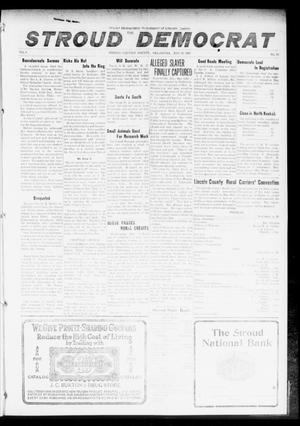 Primary view of object titled 'The Stroud Democrat (Stroud, Okla.), Vol. 6, No. 35, Ed. 1 Friday, May 19, 1916'.