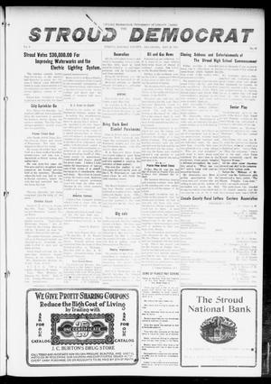 Primary view of object titled 'The Stroud Democrat (Stroud, Okla.), Vol. 6, No. 36, Ed. 1 Friday, May 26, 1916'.