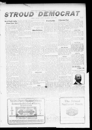 Primary view of object titled 'The Stroud Democrat (Stroud, Okla.), Vol. 6, No. 38, Ed. 1 Friday, June 9, 1916'.