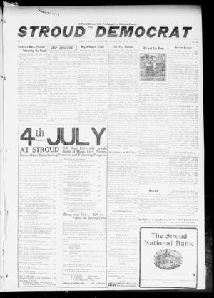 Primary view of object titled 'The Stroud Democrat (Stroud, Okla.), Vol. 6, No. 40, Ed. 1 Friday, June 23, 1916'.