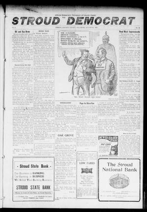 Primary view of object titled 'The Stroud Democrat (Stroud, Okla.), Vol. 6, No. 48, Ed. 1 Friday, August 18, 1916'.