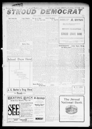 Primary view of object titled 'The Stroud Democrat (Stroud, Okla.), Vol. 6, No. 50, Ed. 1 Friday, September 1, 1916'.