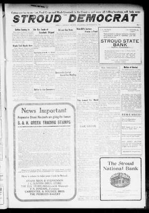 Primary view of object titled 'The Stroud Democrat (Stroud, Okla.), Vol. 6, No. 52, Ed. 1 Friday, September 15, 1916'.