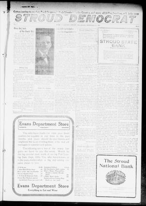 Primary view of object titled 'The Stroud Democrat (Stroud, Okla.), Vol. 7, No. 1, Ed. 1 Friday, September 22, 1916'.
