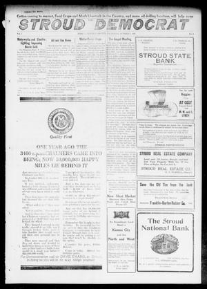 Primary view of object titled 'The Stroud Democrat (Stroud, Okla.), Vol. 7, No. 3, Ed. 1 Friday, October 6, 1916'.