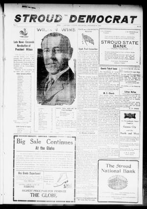 Primary view of object titled 'The Stroud Democrat (Stroud, Okla.), Vol. 7, No. 8, Ed. 1 Friday, November 10, 1916'.