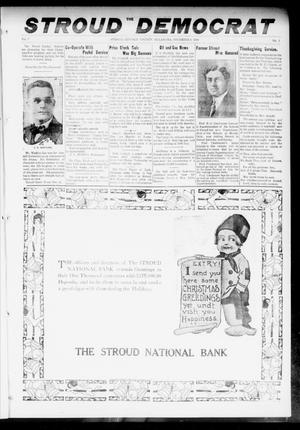 Primary view of object titled 'The Stroud Democrat (Stroud, Okla.), Vol. 7, No. 12, Ed. 1 Friday, December 8, 1916'.