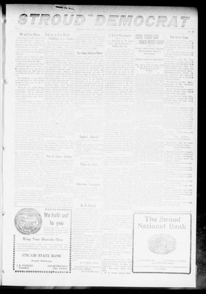 Primary view of object titled 'The Stroud Democrat (Stroud, Okla.), Vol. 7, No. 18, Ed. 1 Friday, January 19, 1917'.