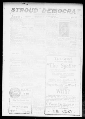 Primary view of object titled 'The Stroud Democrat (Stroud, Okla.), Vol. 7, No. 20, Ed. 1 Friday, February 2, 1917'.