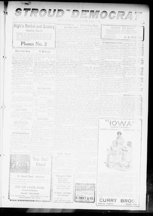 Primary view of object titled 'The Stroud Democrat (Stroud, Okla.), Vol. 7, No. 25, Ed. 1 Friday, March 9, 1917'.
