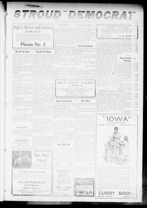 Primary view of object titled 'The Stroud Democrat (Stroud, Okla.), Vol. 7, No. 26, Ed. 1 Friday, March 16, 1917'.
