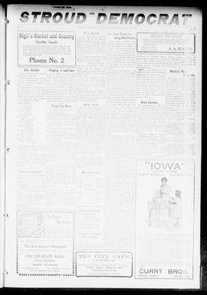 Primary view of object titled 'The Stroud Democrat (Stroud, Okla.), Vol. 7, No. 27, Ed. 1 Friday, March 23, 1917'.