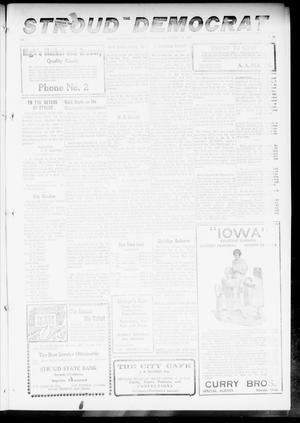 Primary view of object titled 'The Stroud Democrat (Stroud, Okla.), Vol. 7, No. 28, Ed. 1 Friday, March 30, 1917'.