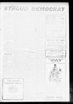 Primary view of object titled 'The Stroud Democrat (Stroud, Okla.), Vol. 7, No. 30, Ed. 1 Friday, April 13, 1917'.