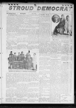 Primary view of object titled 'The Stroud Democrat (Stroud, Okla.), Vol. 7, No. 38, Ed. 1 Friday, June 8, 1917'.