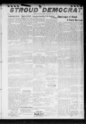 Primary view of object titled 'The Stroud Democrat (Stroud, Okla.), Vol. 7, No. 42, Ed. 1 Friday, July 13, 1917'.