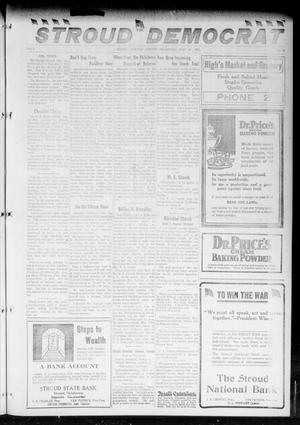 Primary view of object titled 'The Stroud Democrat (Stroud, Okla.), Vol. 7, No. 44, Ed. 1 Friday, July 27, 1917'.