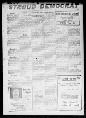Primary view of object titled 'The Stroud Democrat (Stroud, Okla.), Vol. 7, No. 45, Ed. 1 Friday, August 3, 1917'.