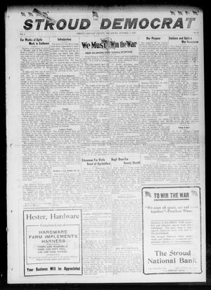 Primary view of object titled 'The Stroud Democrat (Stroud, Okla.), Vol. 8, No. 2, Ed. 1 Friday, October 5, 1917'.