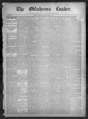Primary view of The Oklahoma Leader. (Guthrie, Okla.), Vol. 5, No. 46, Ed. 1 Thursday, January 6, 1898