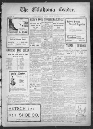 Primary view of The Oklahoma Leader. (Guthrie, Okla.), Vol. 14, No. 144, Ed. 1 Thursday, September 14, 1899