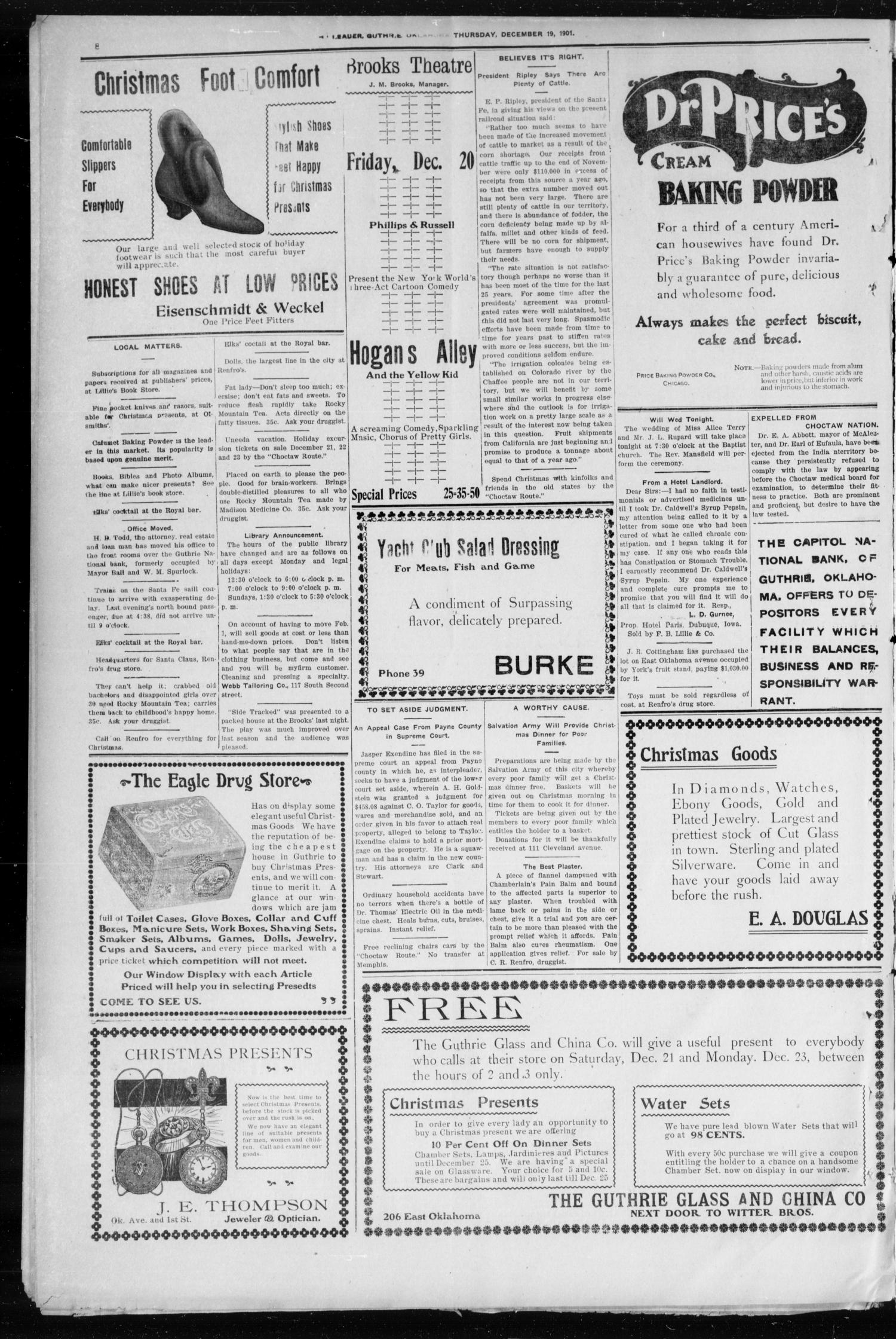 Oklahoma Leader. (Guthrie, Okla.), Vol. 9, No. 47, Ed. 1 Thursday, December 19, 1901                                                                                                      [Sequence #]: 8 of 8