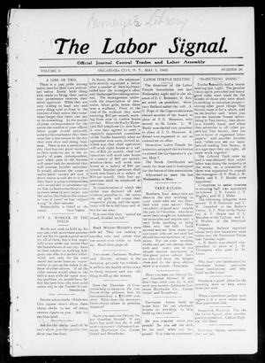 Primary view of object titled 'The Labor Signal. (Oklahoma City, Okla. Terr.), Vol. 3, No. 29, Ed. 1 Friday, May 1, 1903'.