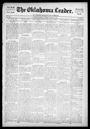 Primary view of object titled 'The Oklahoma Leader. (Guthrie, Okla.), Vol. 11, No. 36, Ed. 1 Thursday, October 6, 1904'.