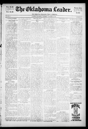 Primary view of The Oklahoma Leader. (Guthrie, Okla.), Vol. 11, No. 37, Ed. 1 Thursday, October 13, 1904